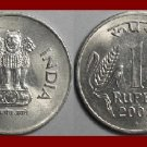 INDIA 2002 1 RUPEE COIN KM#92.2 EURASIA - Asoka Column Bengal Tigers~ AU ~ BEAUTIFUL!