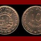PORTUGUESE INDIA 1959 10 CENTAVOS BRONZE COIN KM#30 EURASIA