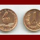 ALBANIA 1996 1 LEK BRONZE COIN KM#75 Europe - Pelican