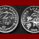 CROATIA 1995 2 LIPE COIN KM#4 ~ AU ~ Europe - Grapes & Vine ~ VERY BEAUTIFUL COIN!