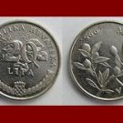 CROATIA 2003 20 LIPA COIN KM#7 Europe - Snakes Head Flower ~ BEAUTIFUL!