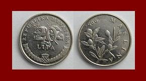 CROATIA 2003 20 LIPA COIN KM#7 Europe - Snakes Head Flower ~ BEAUTIFUL!