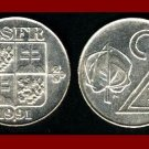 CZECH SLOVAK FEDERAL REPUBLIC CSFR 1991 2 KORUNY COIN KM#148 Europe SCARCE! LOW MINTAGE! BEAUTIFUL!