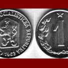 CZECHOSLOVAKIA 1962 1 HALER COIN KM#51 Europe - XF - BEAUTIFUL!