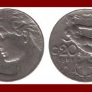 ITALY 1921 20 CENTESIMI COIN KM#44 Europe - Nude Woman