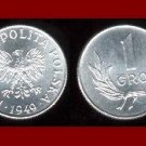 POLAND 1949 1 GROSZ COIN Y#39 Europe - Communist White Eagle ~ BEAUTIFUL!