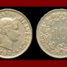 SWITZERLAND 1946(B) 10 RAPPEN COIN KM#27 Europe - Wreath of Edelweiss - SCARCE!