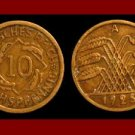 Weimar Republic GERMANY 1925(A) 10 REICHSPFENNIG COIN KM#40 Europe