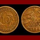 Weimar Republic GERMANY 1925(A) 10 REICHSPFENNIG COIN KM#40 Europe