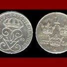 SWEDEN 1950 2 ORE BRONZE COIN KM#845 Europe - King Gustaf VI - SCARCE!