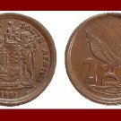 SOUTH AFRICA 1991 2 CENTS BRONZE COIN KM#133 AFRICAN SUID TRIBAL LEGEND