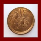 SOUTH AFRICA 1973 1 CENT BRONZE COIN KM#82 AFRICAN SUID TRIBAL LEGEND Sparrows