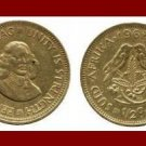 SOUTH AFRICA 1962 1/2 HALF CENT BRASS COIN KM#56 SUID TRIBAL LEGEND Sparrows ~ Jan van Riebeeck