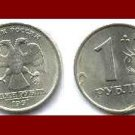 RUSSIA - CIS 1997 1 ROUBLE COIN Y#604 ~ Two Headed Eagle - BEAUTIFUL COIN!
