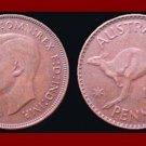 AUSTRALIA 1942(p) 1 PENNY BRONZE COIN KM#36 Oceania Kangaroo ~ WWII Coin