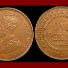 AUSTRALIA 1922(m & p) 1 PENNY BRONZE COIN KM#23 Oceania COMMONWEALTH