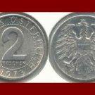 AUSTRIA 1973 2 GROSCHEN COIN KM#2876