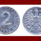 AUSTRIA 1954 2 GROSCHEN COIN KM#2876
