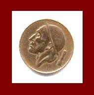 BELGIUM 1964 50 CENTIMES BRONZE COIN KM#148.1 Europe BELGIQUE French Legend -XF - BEAUTIFUL!