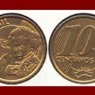 BRAZIL 1998 10 CENTAVOS COIN KM#649 South America - Pedro I - XF - BEAUTIFUL!