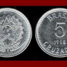 BRAZIL 1988 5 CRUZADOS COIN KM#606 South America