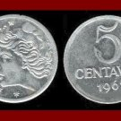 BRAZIL 1967 5 CENTAVOS COIN KM#577.1 South America