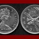 CANADA 1976 25 CENTS COIN KM#62b Queen Elizabeth II by Machin - Moose - XF - BEAUTIFUL!