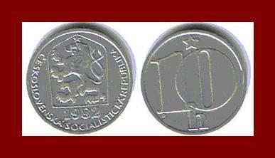 CZECHOSLOVAKIA 1982 10 HALERU COIN KM#80 Europe - XF - BEAUTIFUL!