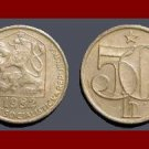 CZECHOSLOVAKIA 1982 50 HALERU COIN KM#89 Europe