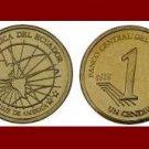 ECUADOR 2000 1 CENTAVO BRONZE COIN KM#104