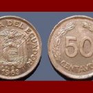 ECUADOR 1963 50 CENTAVOS COIN KM#81
