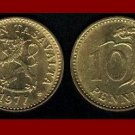 FINLAND 1971 10 PENNIA COIN KM#46 Crowned Lion - BEAUTIFUL!