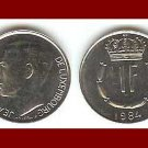 LUXEMBOURG 1984 1 FRANC COIN KM#55 Europe - Grand Duke Crown ~ BEAUTIFUL!