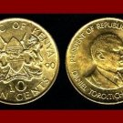 KENYA 1990 10 CENTS COIN KM#18 AFRICA BEAUTIFUL!