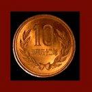 JAPAN 1977 10 YEN BRONZE COIN Y#73a Emperor Hirohito Showa Era Year 52 Temple Uji Byodo-in Hoo-do
