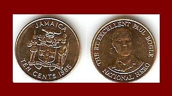 JAMAICA 1995 10 CENTS COIN KM#146.2 Caribbean - NATIONAL HERO Paul Bogle - BEAUTIFUL!