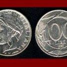 ITALY 1997 100 LIRE COIN KM#159 Europe Bird Dolphin Castle ~ BEAUTIFUL!