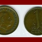NETHERLANDS 1966 1 CENT BRONZE COIN KM#180 Queen Juliana