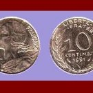 FRANCE 1991 10 CENTIMES COIN KM#929 ~ BEAUTIFUL!