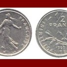 FRANCE 1969 1/2 (HALF) FRANC COIN KM#931.1 ~ BEAUTIFUL!