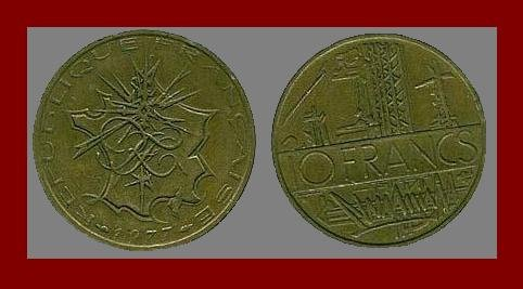 FRANCE 1977 10 FRANCS COIN KM#940 Europe