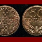 PORTUGAL 1979 50 CENTAVOS BRONZE COIN KM#596 Europe