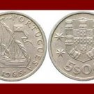 PORTUGAL 1965 5 ESCUDOS COIN KM#591 Europe - Galleon Ship