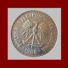 POLAND 1986 1 ZLOTY COIN Y#49.2 Redesigned White Eagle