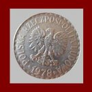 POLAND 1978 1 ZLOTY COIN Y#49.1 Communist Coin - White Eagle