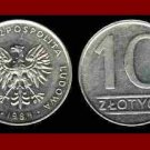 POLAND 1984 10 ZLOTYCH BRASS COIN Y#152.1 Communist Coin - White Eagle