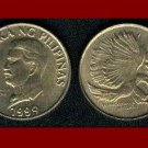 PHILIPPINES 1994 50 SENTIMOS BRASS COIN KM#242.3 PITHECOPHAGA - Monkey Eating Eagle