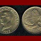 PHILIPPINES 1992 50 SENTIMOS BRASS COIN KM#242.3 PITHECOPHAGA - Monkey Eating Eagle