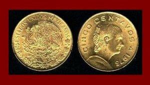 MEXICO 1973 5 CENTAVOS BRASS COIN KM#427 Dona Josefa Ortiz de Dominquez