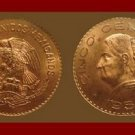 MEXICO 1956 5 CENTAVOS BRASS COIN KM#426 Dona Josefa Ortiz de Dominquez